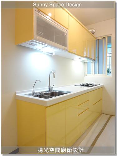 廚具大王-內湖文德路簡小姐鵝黃色廚具-陽光空間廚衛設計15