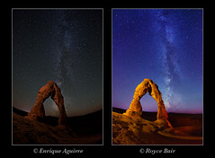 "Different NightScape Styles (IronRodArt - Royce Bair (""Star Shooter"")) Tags: nightscape archesnationalpark delicatearch nightscapes milkyway enriqueaguirre"