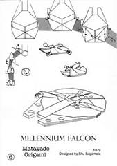 Millennium Falcon origami diagram coming next. (Matayado-titi) Tags: starwars origami millenium millennium diagram falcon spaceship starship sugamata matayado