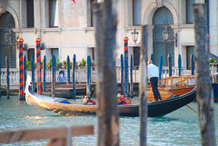 Venice - A Beautiful City That is Poles Apart! (antonychammond) Tags: blue venice red italy canal poles gondolas thegalaxy concordians virgiliocompany mygearandme odetojoyodealegria