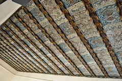 Frescos (R.Iznardo) Tags: painting ceiling peinture beam zaragoza fresco pintura techo plafond joist vigas aragn aljafera