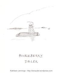 Huckleberry Dalek (tanaudel) Tags: illustration drawing art pen ink comic doctorwho daleks huckleberryfinn raft river