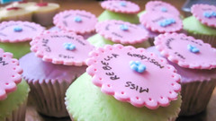 Cupcakes for Teachers (Baked In Caked Out (Sameen)) Tags: flowers sign cupcakes mr vanilla teachers posts miss mrs buttercream flickraward femaleteachers maleteachers