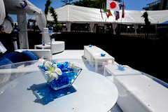 VIP Patio (BombshellPro) Tags: blue food white marketing florida miami tent event entertainment alcohol fortlauderdale conference tasting centerpiece foodfestival southflorida foodandwinefestival bombshell dcor specialevent winefestival tabledecoration viptent eventplanning tabledecor pation eventdesign partyplanning corporateevent outdoorevent whitefurniture