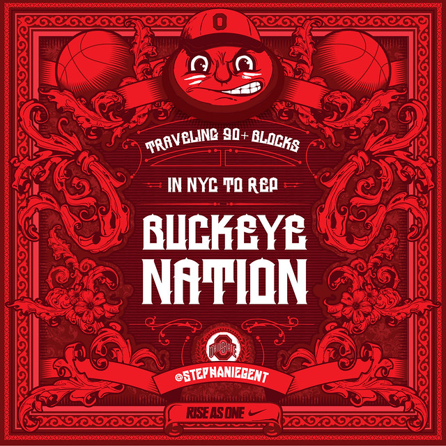 Ohio State Fan Poster for @stephaniegent