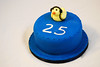 Duck birthday cake (chatter_cakes) Tags: birthday blue cake duck headphones 25th