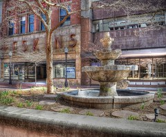 Once Was Beautiful (podolux) Tags: fountain spring md nikon maryland cumberland springtime 2012 alleganycounty photomatix d5100 march2012 spring2012 nikkordx1855vr photomatixformac decayingdowntown