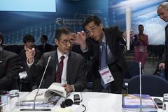 Yuichiro Kawashima in discussion with Kazuo Inaba