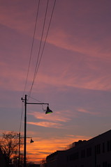 Sunset in via Prudenzio 2 (charlieriz) Tags: sunset lamps fujinon55mmf22