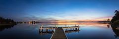 Calm (Torkn2U) Tags: sunset panorama lake water dusk belmont pano jetty australia wharf nsw newsouthwales lakemacquarie squidsink