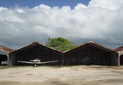 Hangar (seabright hoffman) Tags: plane airport belize aviation hangar rusty cessna