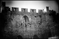 Gate to the City (Roberto Novicini) Tags: bw film 35mm nikon trix stonewall citywall hln plasticlens citygate bwfilm blackandwhitefilm digitalholga n8008s nikonfilm gatetothecity holgahln