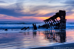 Shipwreck of the Peter Iredale (b#Photo) Tags: sunset reflection beach oregon nikon shipwreck pacificnorthwest oregoncoast pnw hdr fortstevens peteriredale graveyardofthepacific clatsopspit bsharpphoto