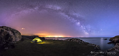 In The Company of Stars (Gareth Mon) Tags: camping sea stars coast milkyway