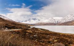 Tourers Galore! (Box Brownie2009) Tags: scotland loch snowcappedmountains motorhomes