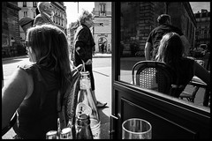 Two of her (GioMagPhotographer) Tags: paris france reflection terrasse martyrs ricohgr 75009 silverefex