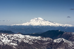 Mt. Rainier from Mt. St. Helens Summit (dr_stan3) Tags: mountain mountains landscape volcano outdoor rainier mountaineering mtrainier mountainpeak pacificnorthwestphotography mtsthelenssummit