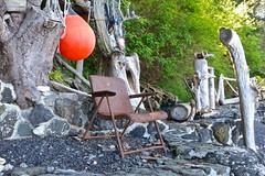 Chair (Whistler Whatever) Tags: old beach metal chair seat rusty wa weathered orcasisland foundobject