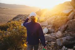 Sunset Hike (MissZiyal3) Tags: california sunset nature cali outdoors rocks candid hike trail socal tamron goldenhour californiadesert sunflare lightroom goldenlight tamron2875mm kodakportra800 canon6d vsco