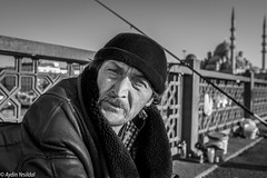 Piercing Gaze (Aydin Yesildal (Street Portrait City Urban People)) Tags: eminn eminonu sirkeci istanbul turkey fisherman upset kadirinanr charisma 23mm fujifilm fujinon streetphotography fuji f14 blackwhite monochrome street photography special moustache