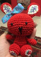 coniglietto rosso (Idee, creazioni e video tutorial di uncinetto) Tags: red bunny crochet creazioni fabric amigurumi coniglio coniglietto pupazzi uncinetto cotone pinterest perfiloesegno