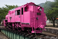 Pink SL at Wakasa Railway (16) (double-h) Tags: sl tottori jnr steamlocomotive c12   eos6d    railwayturntable ef2470mmf4lisusm  pinksl wakasarailway  c12 c12167 wakasastation classc12 c12 sl