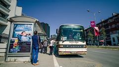 Waiting' for the bus (DeSjnIs) Tags: leica travel europe bluesky kosovo asph balkan 18mm pristina superwideangle centraleurope ultrawideangle f38 prishtin leicam 11637 balkanpeninsula superelmar