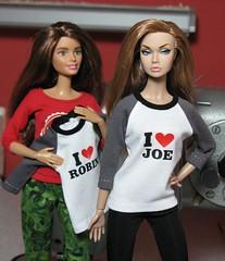 Who do you love ? (Frau_E.2015) Tags: handmade barbie printed ilove baseballshirt fashionroyalty dollfashion fraue handmadedollfashion poppyparker fashiondollapparel