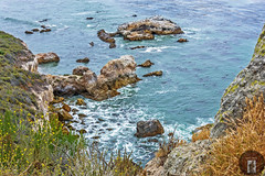 California-Central-Coast 2016-05-21 (randyandy101) Tags: ocean california flowers blue sea panorama sun seascape seaweed reflection beach water rock outdoors photography coast seaside sand rocks whitewater surf waves view outdoor shoreline aquamarine bigsur rocky cliffs kelp shore vista coastline bluffs shimmering seafoam sheer californiacentralcoast bigsurhighway
