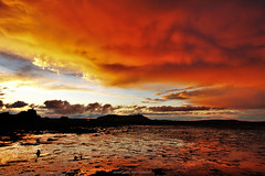 'The Shadow of Mordor' (Gerard Joseph Christopher) Tags: county ireland sunset shadow irish reflection tower clouds lough ominous down lord rings celtic tolkien mordor strangford newtownards scrabo comber