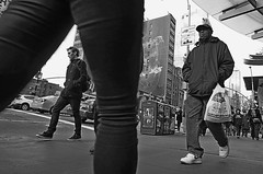 Passing By (sinbadcc1) Tags: street nyc people bw newyork walking timessquare streetphoto