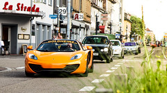 Mac'n'Breeze. (fabianbaege) Tags: orange grey spider mclaren 650 plus audi cabrio coupe supercar longtail v10 supercars roadster r8 580 675 2015 carspotting 12c 650s 590s carspottography carspottting 675lt