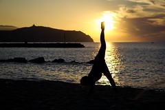 When She touches the Sun (Gianluca De Dominici) Tags: she sun silhouette landscape person women friend sony lucky moment
