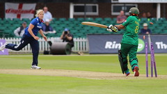 Nida Dar b Brunt 18 (john.mallett) Tags: cricket ecb odi englandvpakistan womanscricket englandwoman fischercountyground