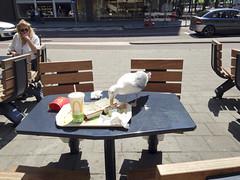 Maaltje bij De Mac (Dimormar!) Tags: food rotterdam junkfood zelfportret meeuw eten weerspiegeling meent maaltijd restjes stadsleven