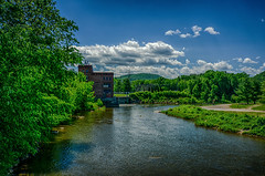 A-View-From-The-New-Bridge (desouto) Tags: flowers sky nature water clouds stream stones lakes ponds hdr