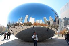IMG_6192 (Panda and Penguin Adventures) Tags: park sculpture chicago canon illinois milleniumpark cloudgate efs1755mmf28isusm