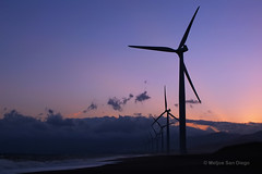 Bangui Sunrise (Meljoe San Diego) Tags: travel clouds sunrise fuji philippines windmills x10 ilocosnorte bangui meljoesandiego