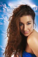 (julcha) Tags: portrait sky woman girl beauty female studio glamour glow skin retouch