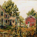 "<b>The Homestead</b><br/> Karl Ouren (1882-1943) ""The Homestead"" Oil, n.d. LFAC #072<a href=""http://farm8.static.flickr.com/7067/6779985004_3ff43d90c0_o.jpg"" title=""High res"">∝</a>"