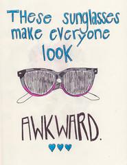 REGAN (heytaylorhey) Tags: moleskine sunglasses sketch words drawing sketchbook thoughts pens
