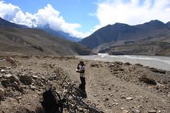 Taking a break on a Multi sport treking Mountain biking rafting kayaking trip in Nepal