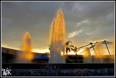 """Fountain of Youth."" (808bride2be) Tags: travel sunset sun water action disneythemeparks"