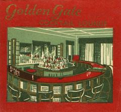 Golden Gate Cocktail Lounge (jericl cat) Tags: ohio art illustration bar vintage restaurant golden design gate interior lounge moderne cocktail warren curved matchbooks streamline matchbook