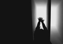 "Me Again Monday - 3/12 - ""Jump"" (triple the sugar) Tags: light sky selfportrait me jump hands again sp monday mam"