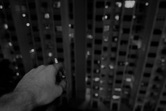 Shell (OzGFK) Tags: blackandwhite bw singapore apartment flat cigarette empty smoking depression depressed lonely nothing void hdb