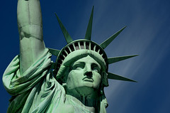 Statue of Liberty - Closeup (hpaich) Tags: desktop wallpaper sky inspiration beautiful beauty statue america liberty freedom memorial background statueofliberty patriot patriotism inspire immigration breathtaking magnificent inspiring desktopwallpaper ladyliberty desktopbackground