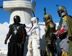 Bounty Hunters Love Parades ! (Colorado Sands) Tags: costumes people irish usa america festive march us starwars colorado unitedstates stormtroopers denver parade troopers nerds event actionfigures scifi soldiers sciencefiction uniforms amerika troops stpats hoth 2010 bountyhunter stpatricksparade stpaddys bountyhunters galacticempire imperialstormtroopers sandraleidholdt leidholdt sandyleidholdt fictionalsoldiers irishparades americanparades coloradofanforce