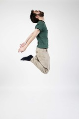 Day 68 (Michael Rozycki) Tags: portrait white green up self project pose jump personal 365 leap
