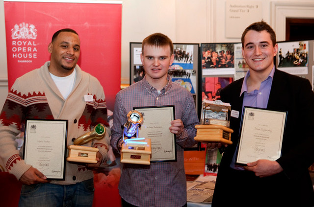 Our apprentices: Louis Hector, Andrew Hulstrom and Shaun Bajnoczky © Rob Moore/ROH 2012